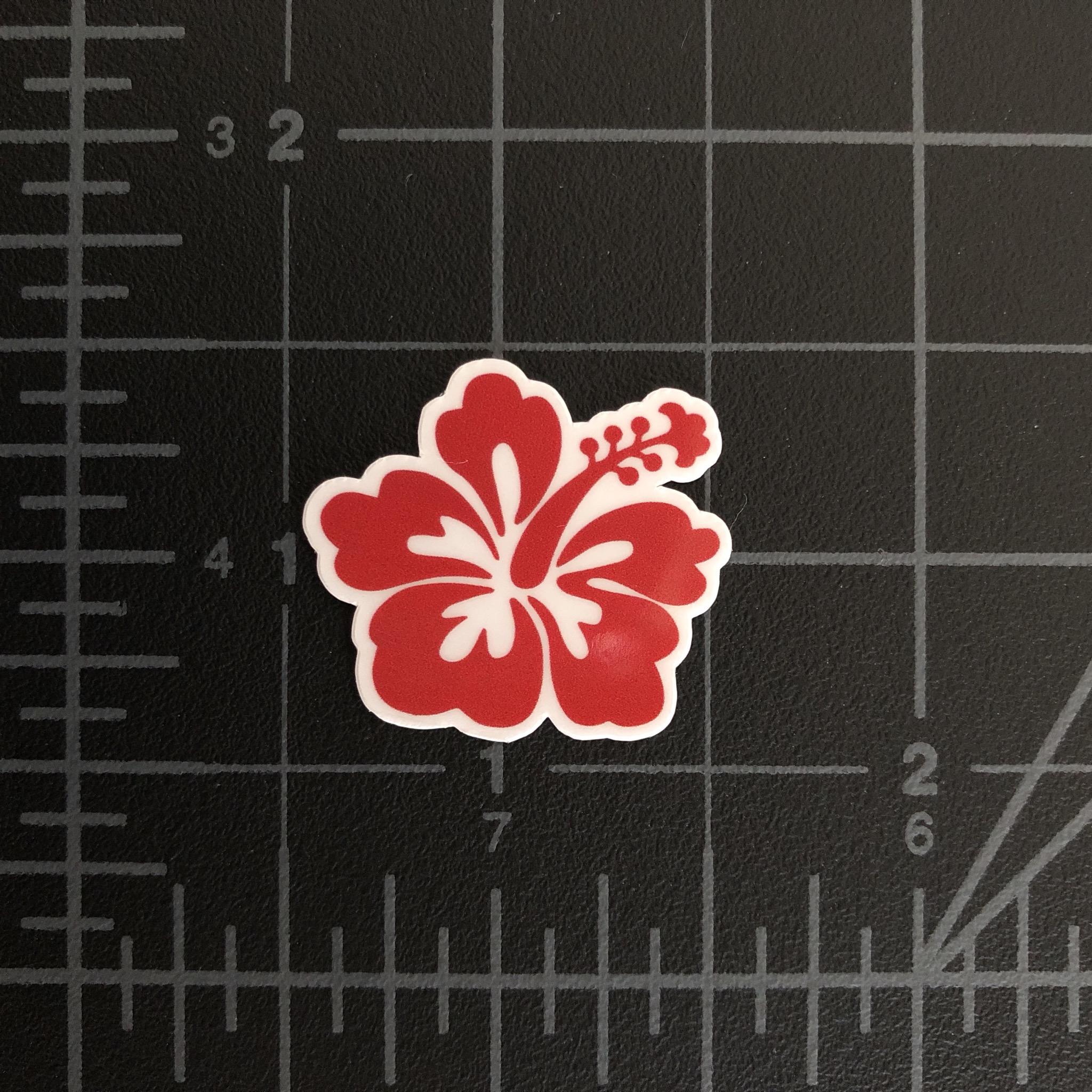 Hibiscus miniature sticker 1 wide rc swag rc stickers hibiscus izmirmasajfo