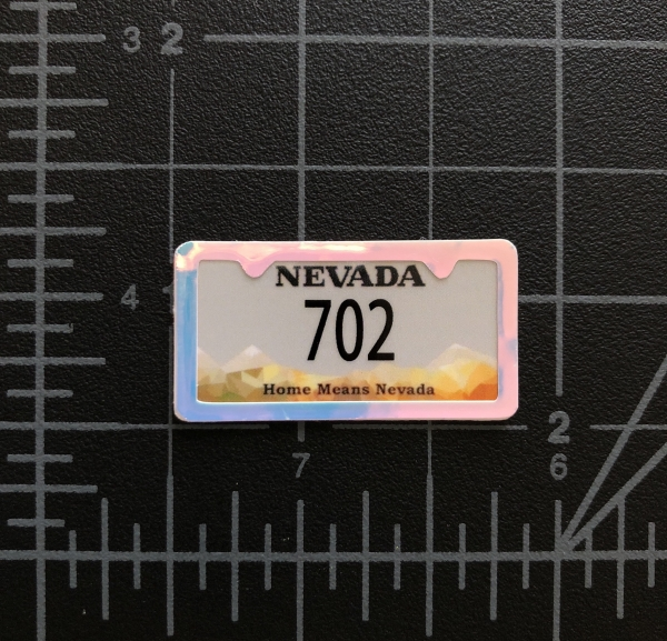 RC Swag - Custom Miniature License Plate with License Plate Frame Embellishment