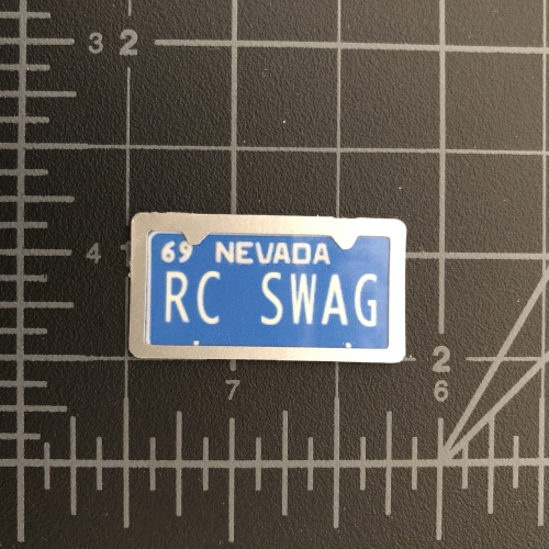 Custom Miniature Nevada License Plate with Silver License Plate Frame Embellishment