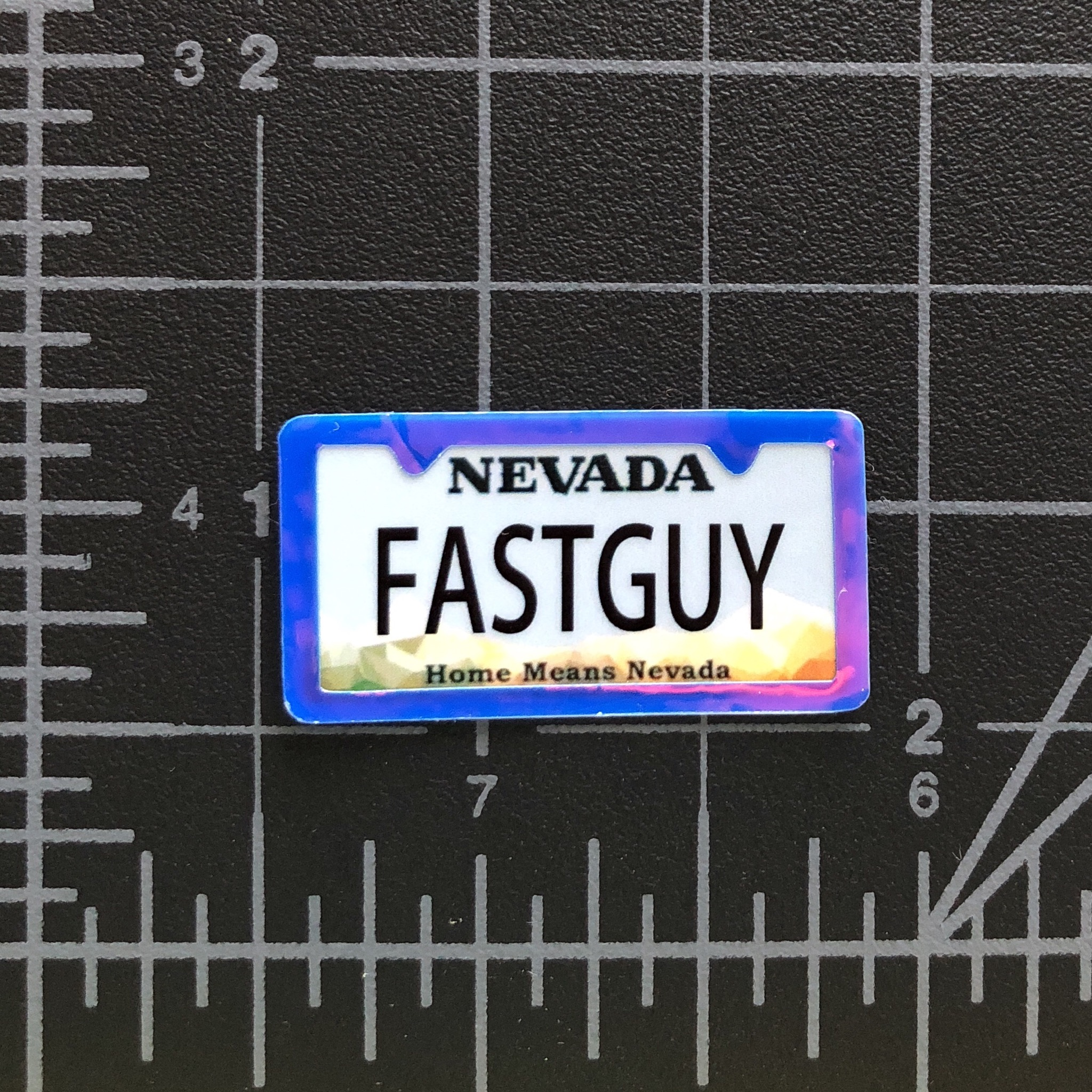 FAST GUY - RC Swag - Custom Miniature License Plate with License Plate Frame Embellishment