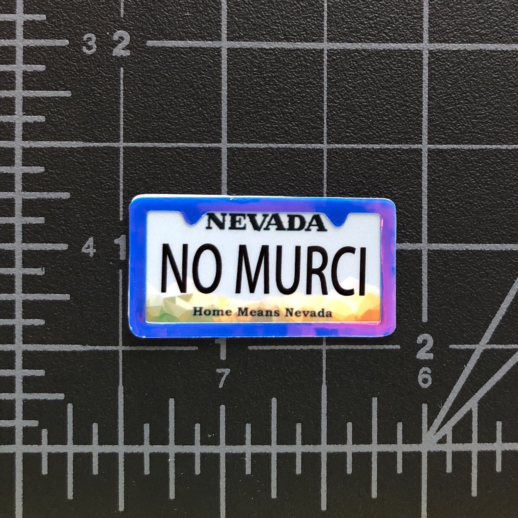 NO MURCI - RC Swag - Custom Miniature License Plate with License Plate Frame Embellishment