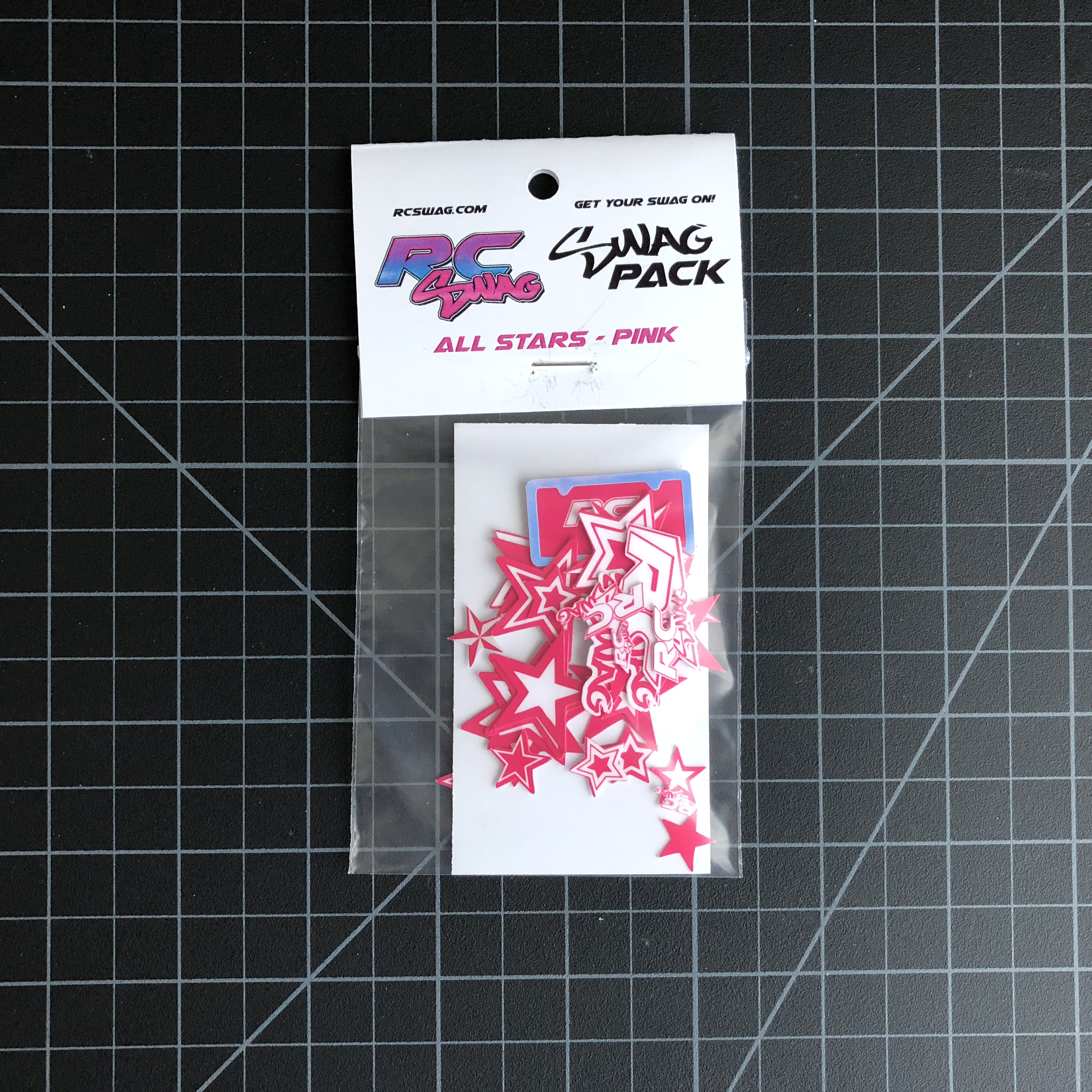 ALL Stars Stickers SWAG Pack in Pink by RC SWAG Custom Stickers - RC Stickers