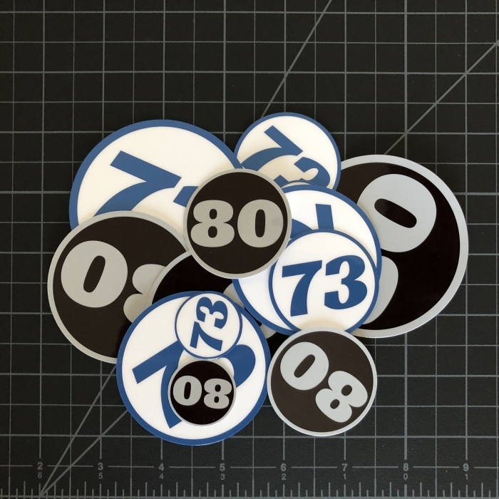 Custom Number Stickers by RC SWAG - Custom Stickers for RC's