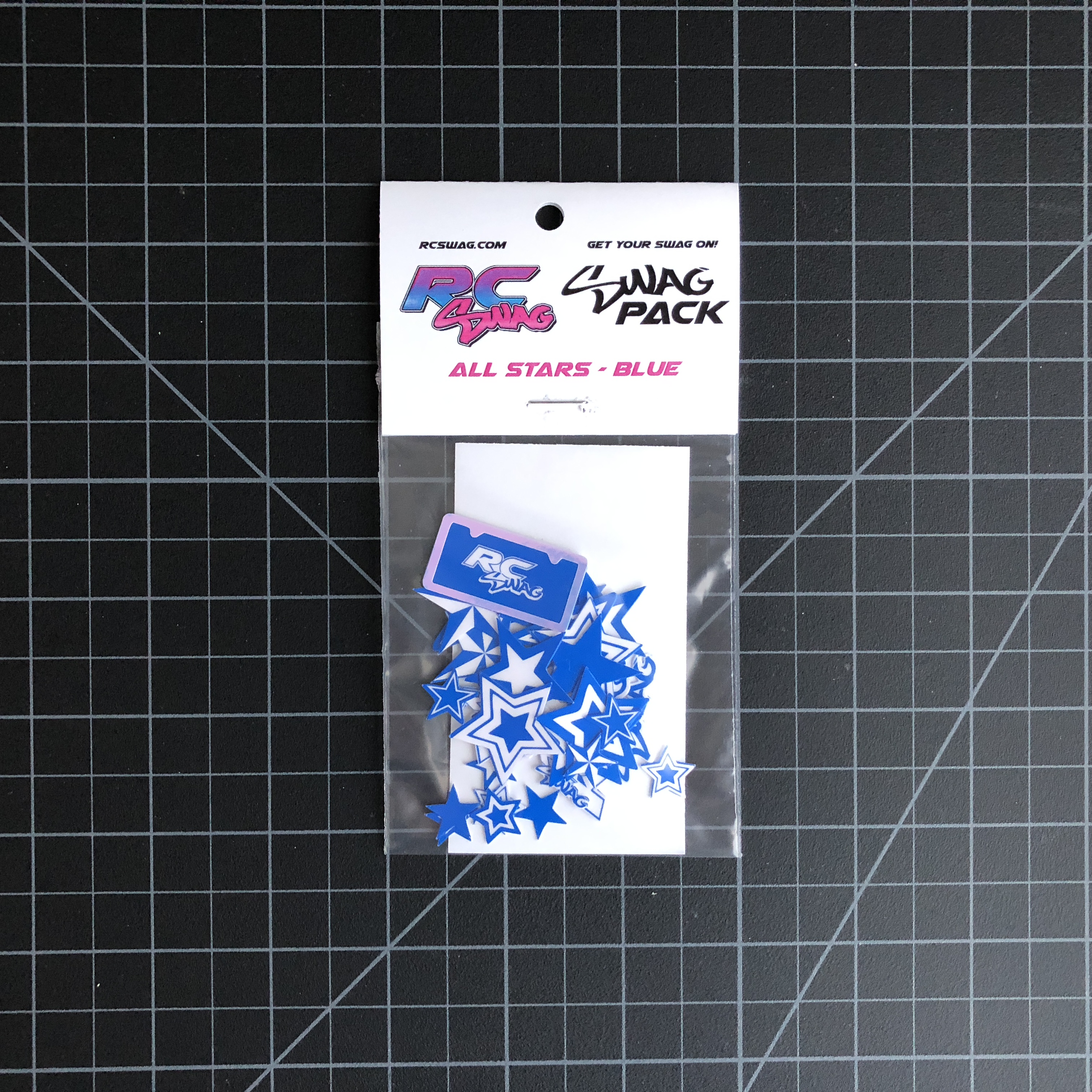 ALL Stars Blue Stickers SWAG Pack by RC SWAG Custom Stickers - RC Stickers