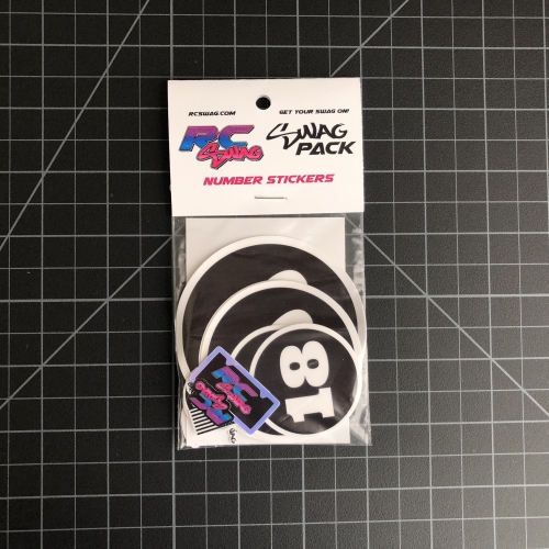 Number Sticker SWAG Packs RC SWAG Custom Stickers - Miniature, Scale, High Quality