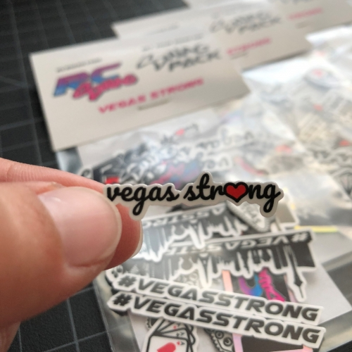 Las Vegas Stickers - Vegas Strong Stickers - RC Swag