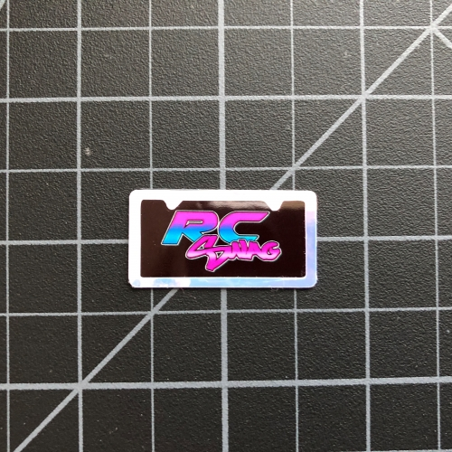 Miniature Scale License Plates with Plate Frame Embellishments by RC SWAG - RC Stickers