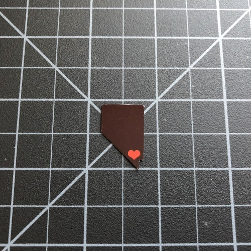 Nevada State Red Heart Las Vegas Sticker - RC Stickers RC SWAG