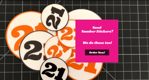 Number Stickers by Las Vegas Sticker Company - RC Swag.com