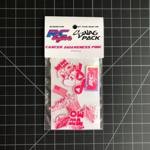 Sticker SWAG Packs - RC SWAG - RC Stickers - Cancer Awareness PINK