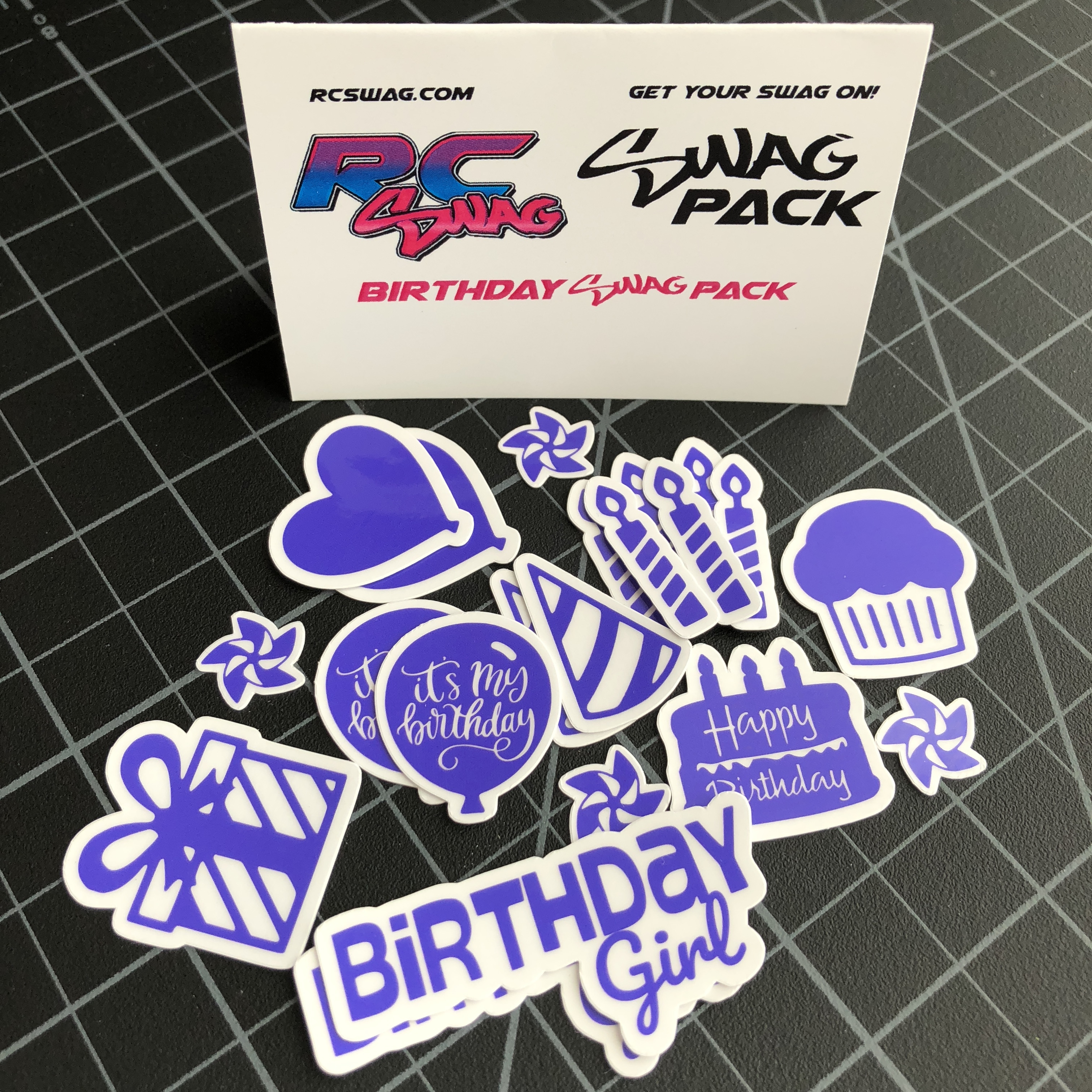RC SWAG Custom Design Sticker SWAG Packs