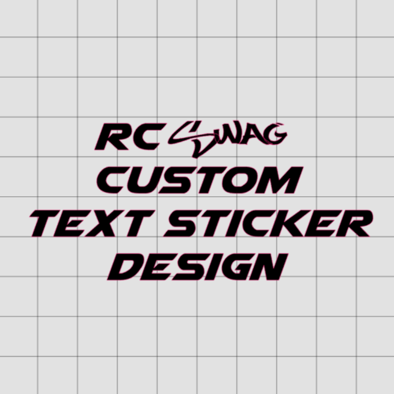 a4958e750b39 Custom Text Sticker Design - RC SWAG - Stickers