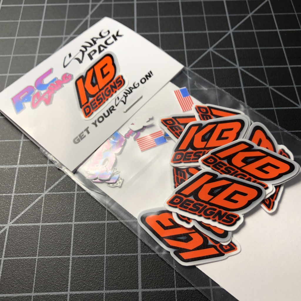 Kb designs custom sticker swag pack