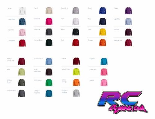 Sponsor Hoodie Color Chart