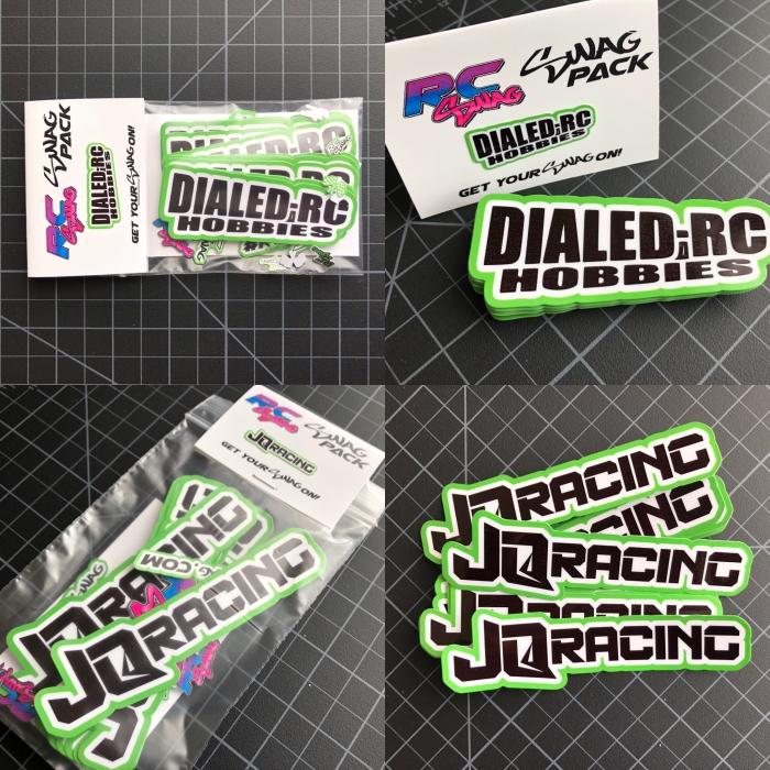 Custom Color RC Sponsor Stickers