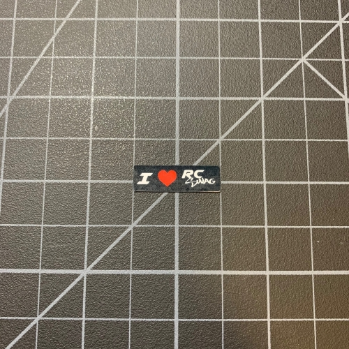 RC Bumper Stickers - I 'love' RC SWAG