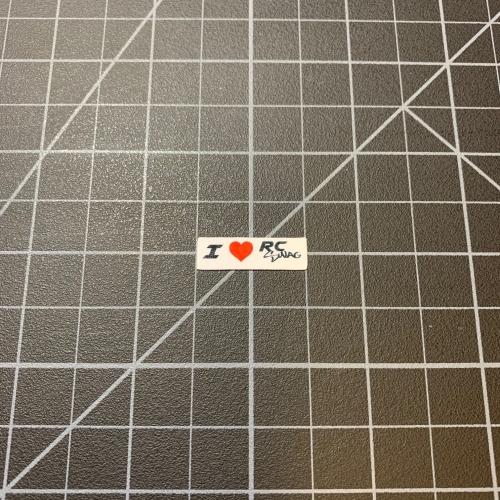 RC Bumper Stickers - I 'love' RC SWAG white