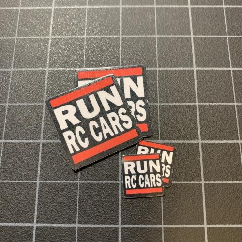 RUN RC CARS Sticker