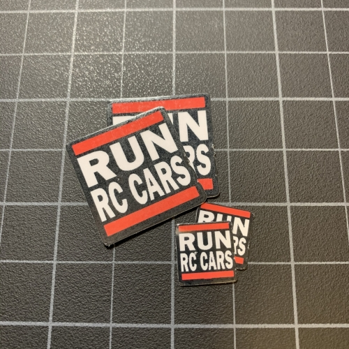 RUN RC CARS Sticker