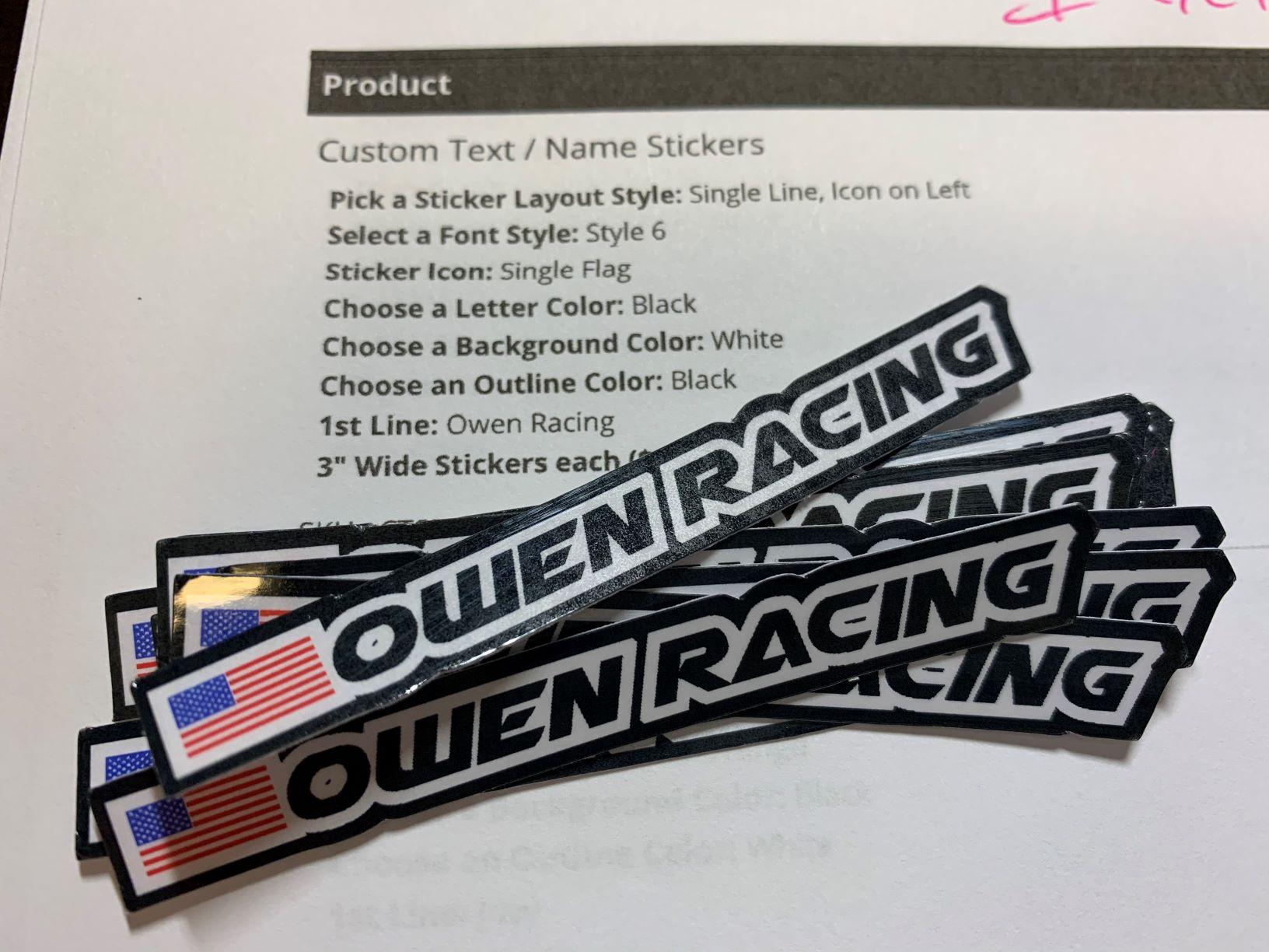 Text Stickers, Custom Text Stickers
