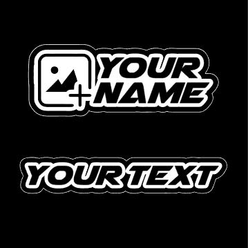 Text / Name Stickers