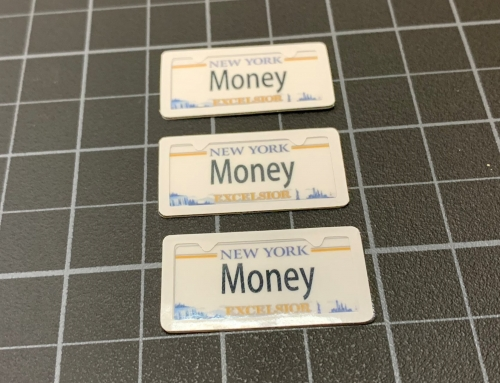 Scale RC License Plates