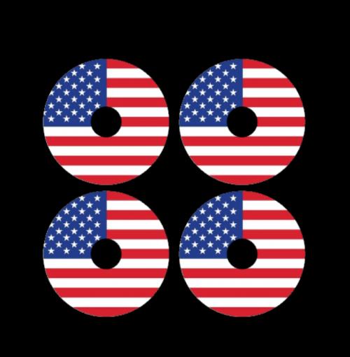 mini wheel stickers american flag