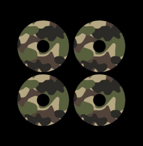 mini wheel stickers camouflage
