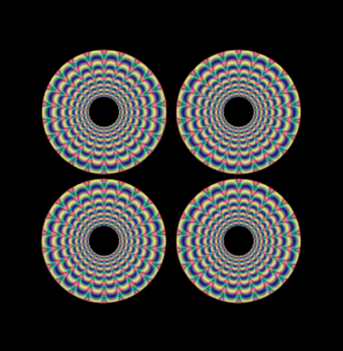 mini wheel stickers trippy