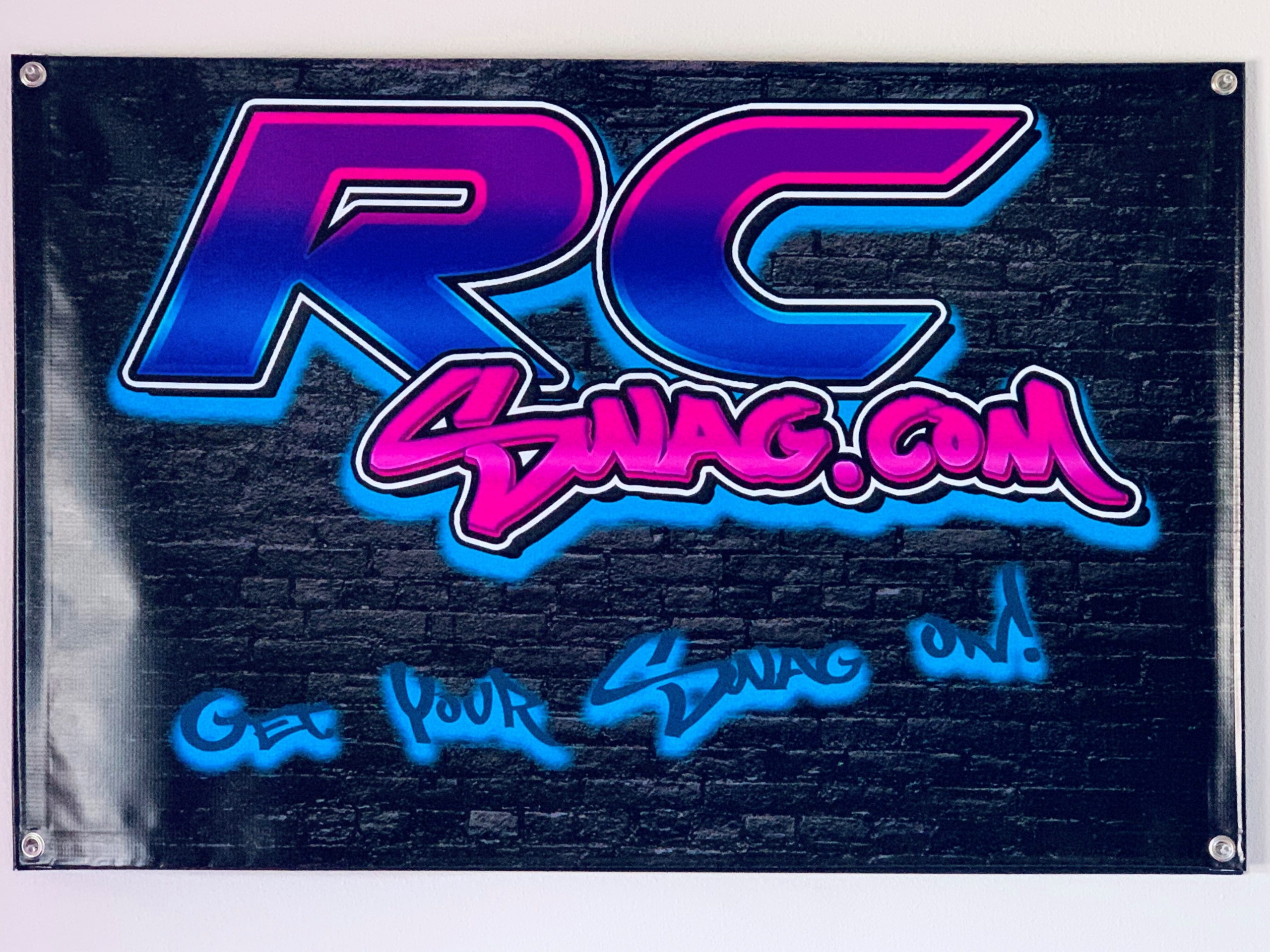 RC Swag wall tag banner